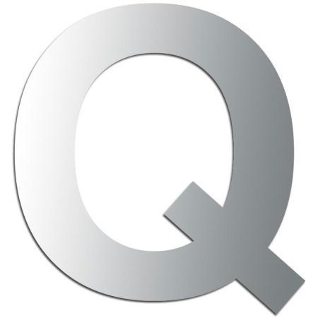 Miroir adhésif lettre Q majuscule - 3,5 cm - Rico Design