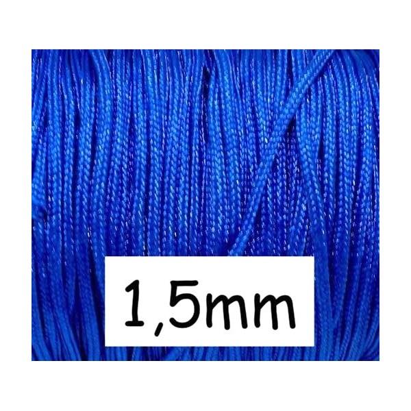 10m Fil De Jade 1,5mm Bleu Nuit Saphir Lumineux - Bracelet Wrap, Shamballa - Photo n°1