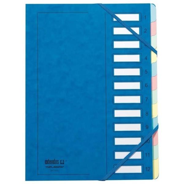 Trieur à élastique série 237 - A4 - 12 positions - Bleu - Photo n°1