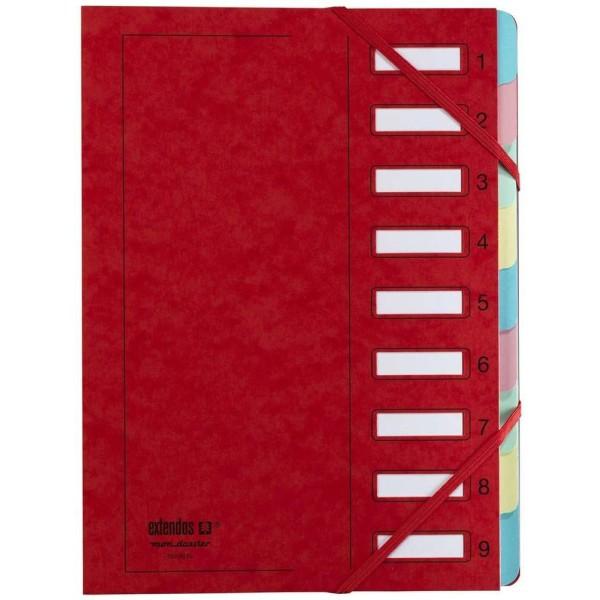 Trieur à élastique série 237 - A4 - 9 positions - Rouge - Photo n°1