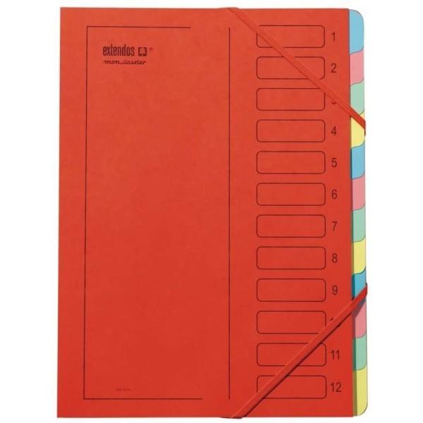 Trieur à élastique, série 223 - A4 - 12 positions - Rouge - Photo n°1