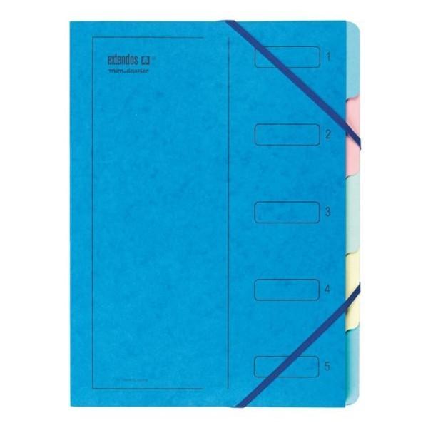 Trieur à élastique, série 223 - A4 - 5 positions - Bleu - Photo n°1