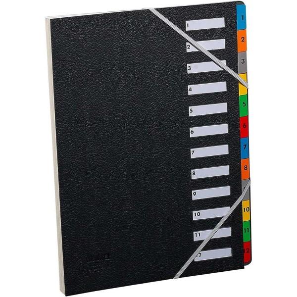Trieur numérique 1-12 - A4 - 12 positions - Noir - Photo n°1