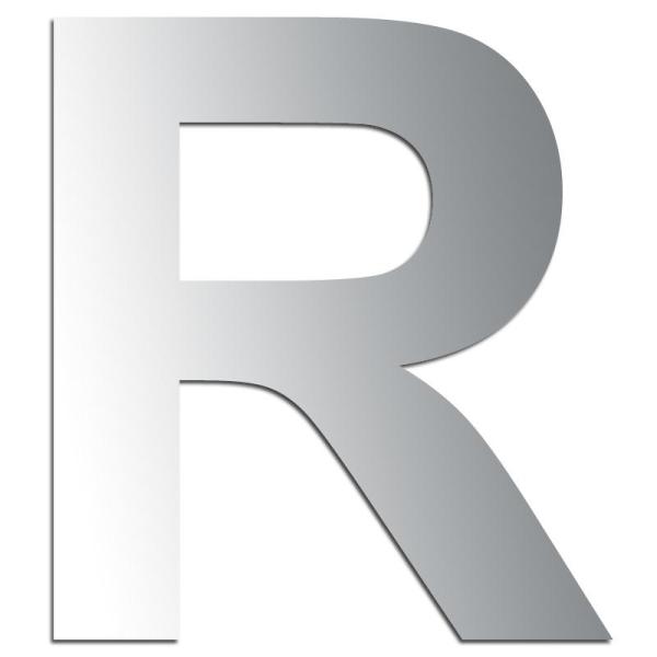 Miroir adhésif lettre R majuscule - 3,2 cm - Photo n°1
