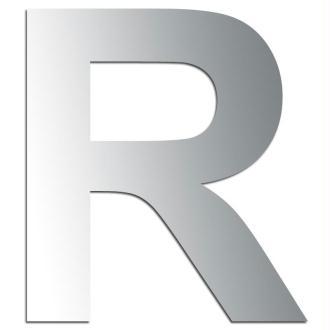 Miroir adhésif lettre R majuscule - 3,2 cm