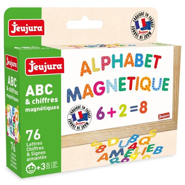 Chiffres et Lettres magnétiques - Multicolore - 76 pcs - Photo n°2