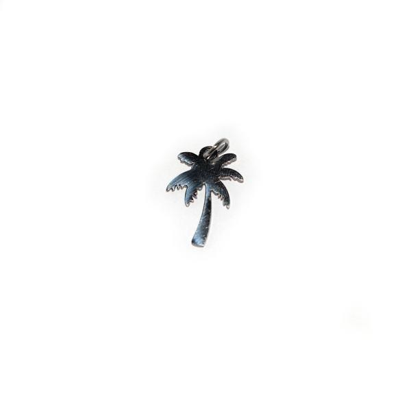 Breloque palmier 17x12mm acier inoxydable - Photo n°1