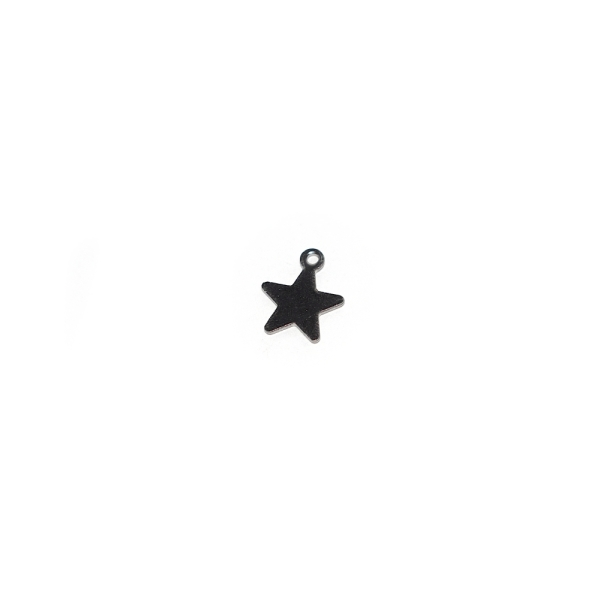 Breloque étoile 10x8 mm acier inoxydable - Photo n°1