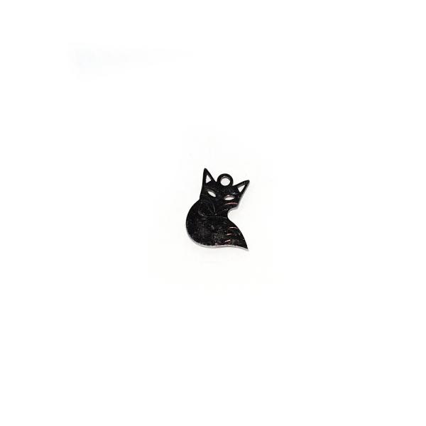 Pendentif renard 14x12 mm acier inoxydable - Photo n°1
