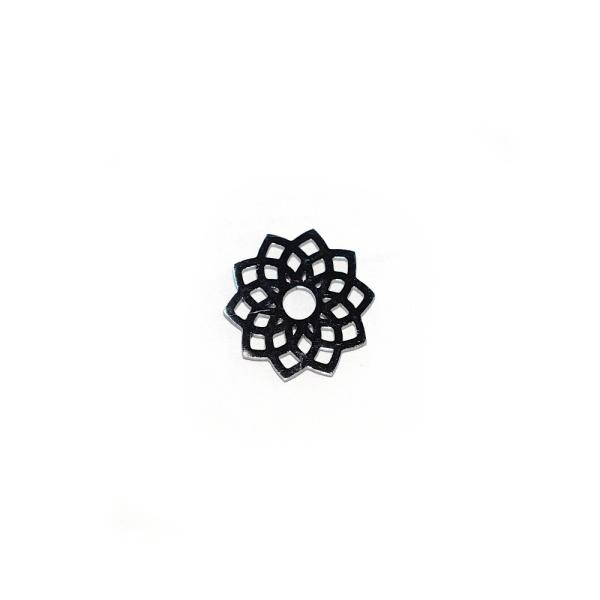 Pendentif mandala lotus 15 mm acier inoxydable - Photo n°1