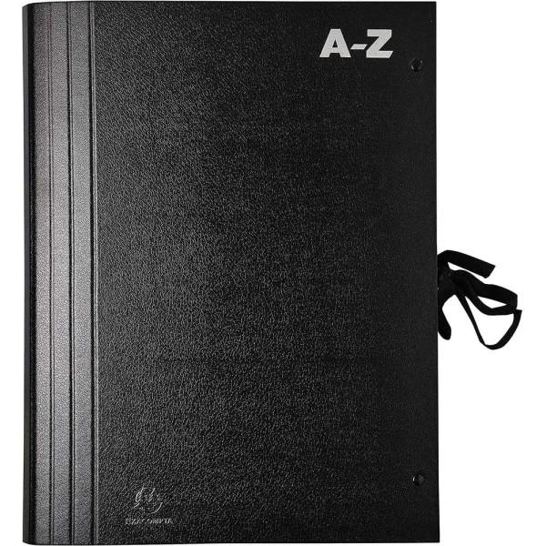 Trieur accordéon alphabétique A-Z - A4 - Noir - Photo n°1
