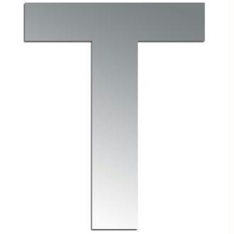 Miroir adhésif lettre T majuscule - 3,2 cm