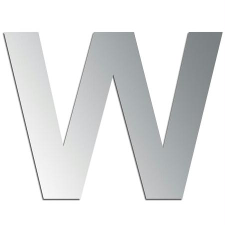 Miroir adhésif lettre W majuscule - 3,3 cm - Rico Design