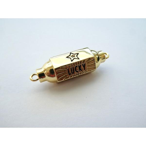 1 Connecteur cylindre talisman, porte-bonheur