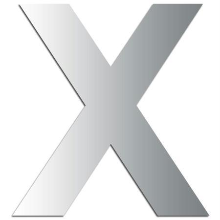 Miroir adhésif lettre X majuscule - 3,2 cm - Rico Design