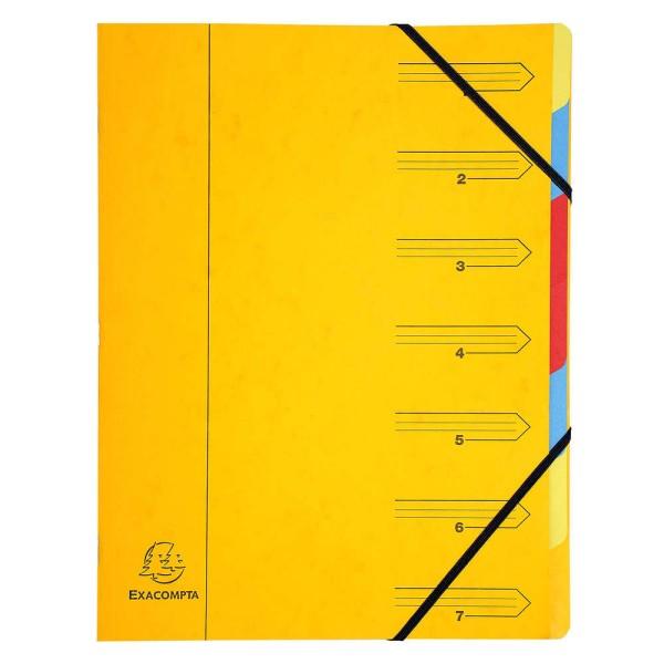 Trieur en carton - A4 - 7 compartiments - Jaune - Photo n°1