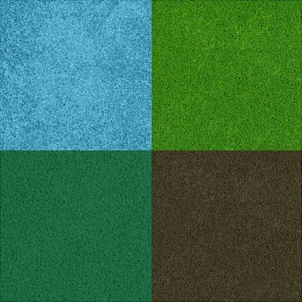 Assortiment de Tampons encreur - Vert - 3,5 x 3,5 cm - 4 pcs - Photo n°4