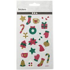 Stickers pailletés - Noël - 1 à 2 cm - 20 pcs