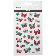 Stickers pailletés - Papillons - 0,9 à 2,5 cm - 29 pcs