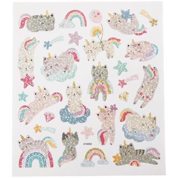 Stickers - Chats licornes - 1 à 4,5 cm - 26 pcs - Photo n°2
