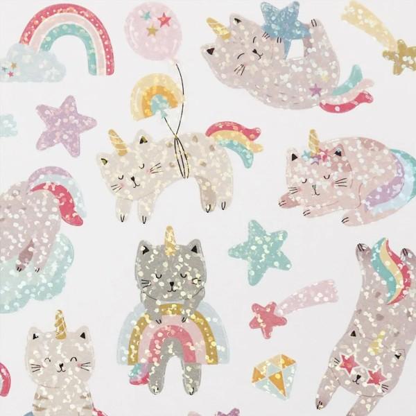 Stickers - Chats licornes - 1 à 4,5 cm - 26 pcs - Photo n°3