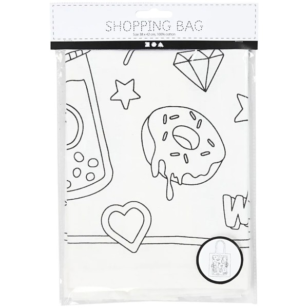 Tote Bag Fantaisie à décorer - 38 x 42 cm - Photo n°2