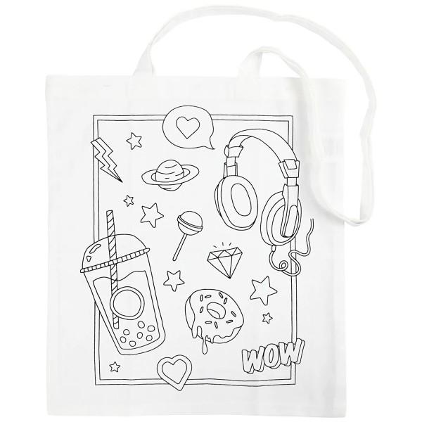 Tote Bag Fantaisie à décorer - 38 x 42 cm - Photo n°1