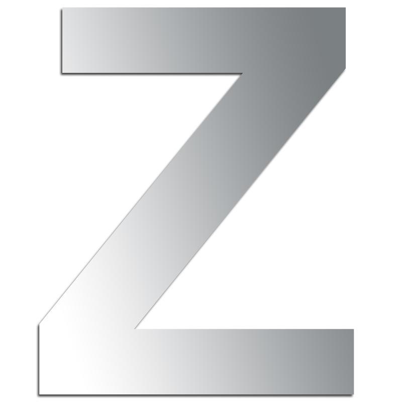 Miroir adh sif lettre z majuscule 3 2 cm lettre miroir for Miroir adhesif