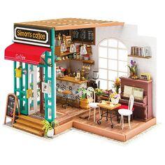 Kit Maquette - Pièce miniature - Café - 22,6 x 19,4 x 19 cm