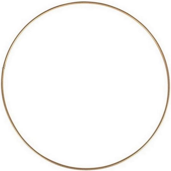 Grand Cercle XXL métallique doré ancien, diam. 90 cm pour abat-jour, Anneau epoxy or Attrape rêves - Photo n°1