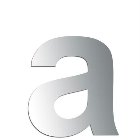Miroir adhésif lettre A minuscule - 2,4 cm - Rico Design