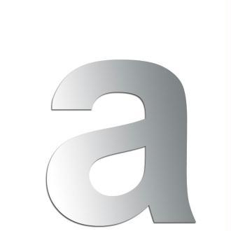 Miroir adhésif lettre A minuscule - 2,4 cm