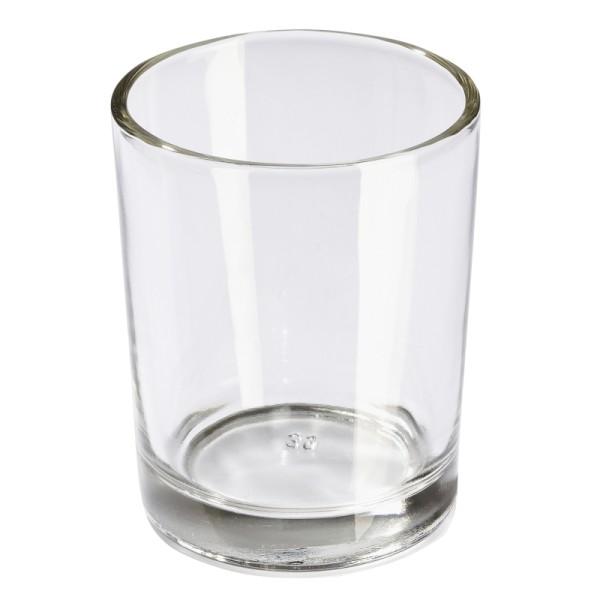 10 Photophores ronds en verre transparent - Photo n°1
