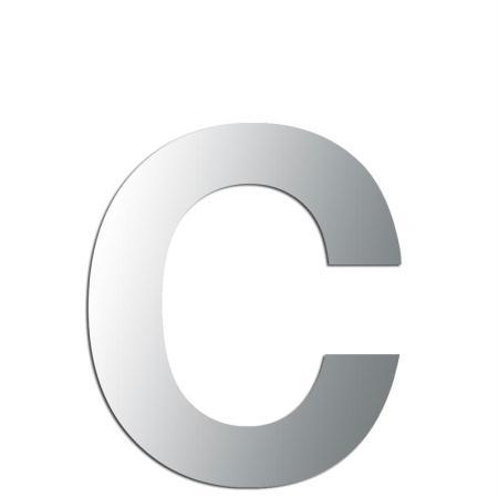 Miroir adhésif lettre C minuscule - 2,4 cm - Rico Design