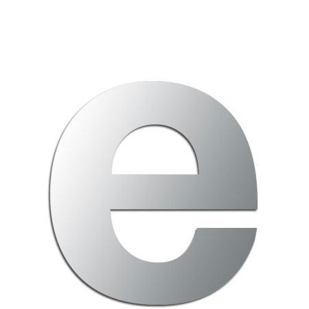 Miroir adhésif lettre E minuscule - 2,4 cm - Rico Design