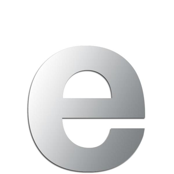Miroir adhésif lettre E minuscule - 2,4 cm - Lettre miroir adhésive ...