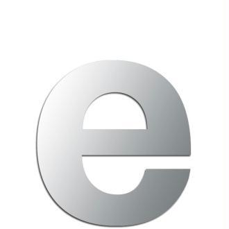 Miroir adhésif lettre E minuscule - 2,4 cm