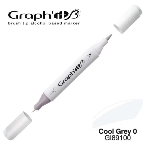 Graph'it brush marqueur à alcool 9100 - Cool grey 0 - Photo n°1