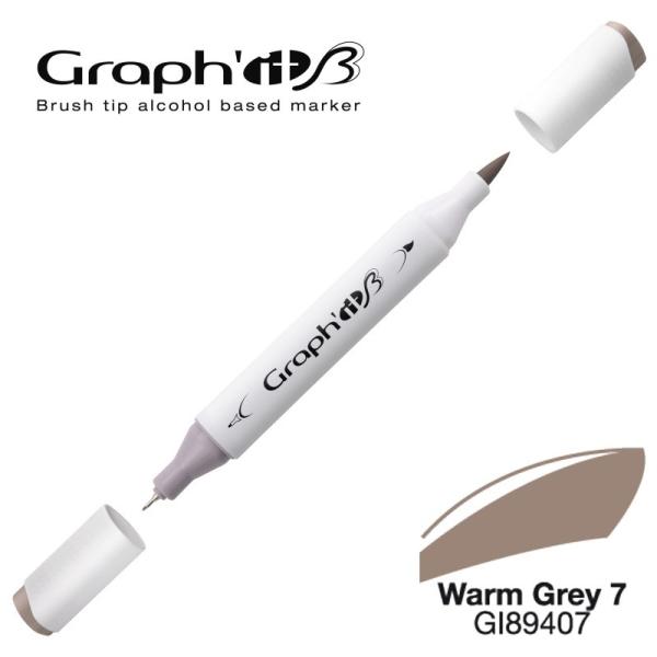 Graph'it brush marqueur à alcool 9407 - Warm grey 7 - Photo n°1