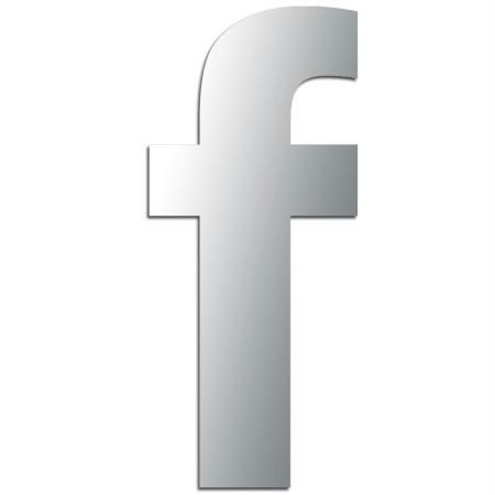 Miroir adhésif lettre F minuscule - 3,2 cm - Rico Design