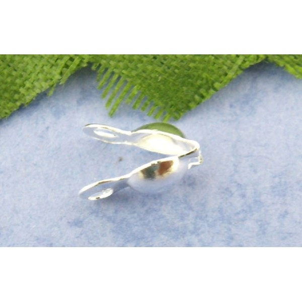 Caches nœud argenté 2 trous x 100 - Photo n°1