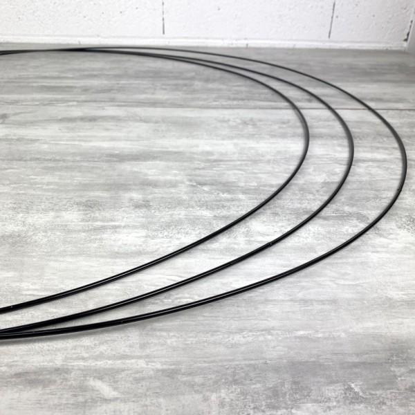 Gros lot de 3 Grands Cercles XXL métalliques noir, diam. 100 cm pour abat-jour, Anneaux epoxy Attrap - Photo n°3