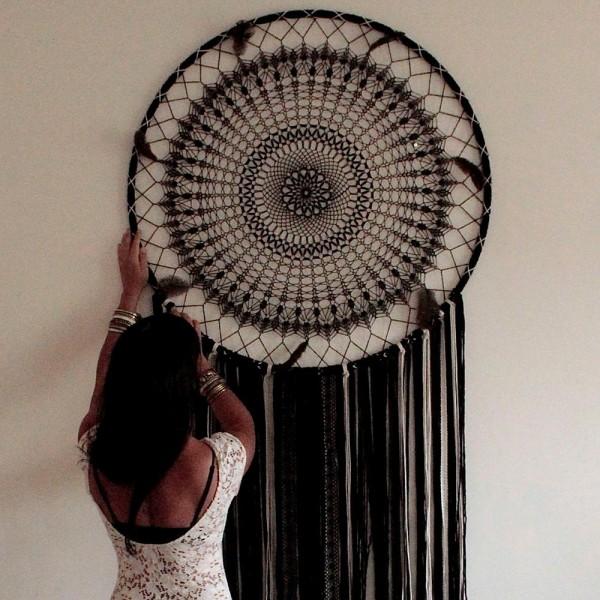 Gros lot de 3 Grands Cercles XXL métalliques noir, diam. 100 cm pour abat-jour, Anneaux epoxy Attrap - Photo n°4