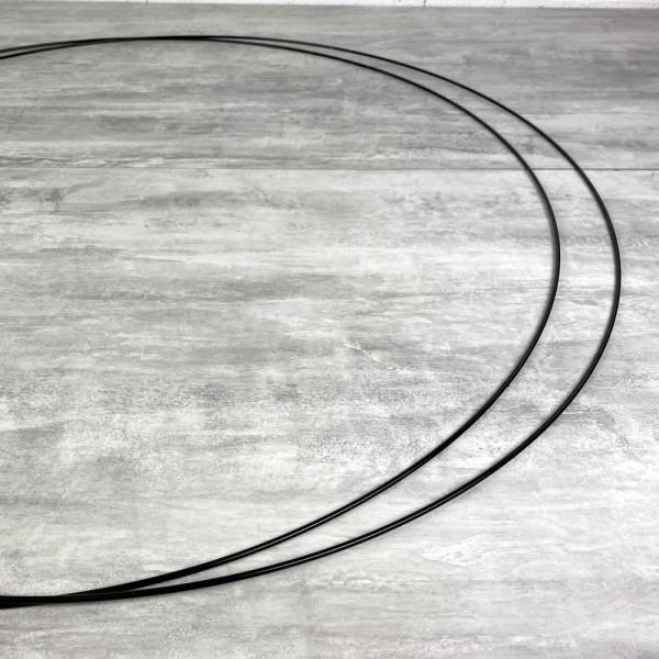 Lot de 2 Grands Cercles métalliques noir, diam. 90 cm pour abat-jour, Anneaux epoxy Attrape rêves - Photo n°2
