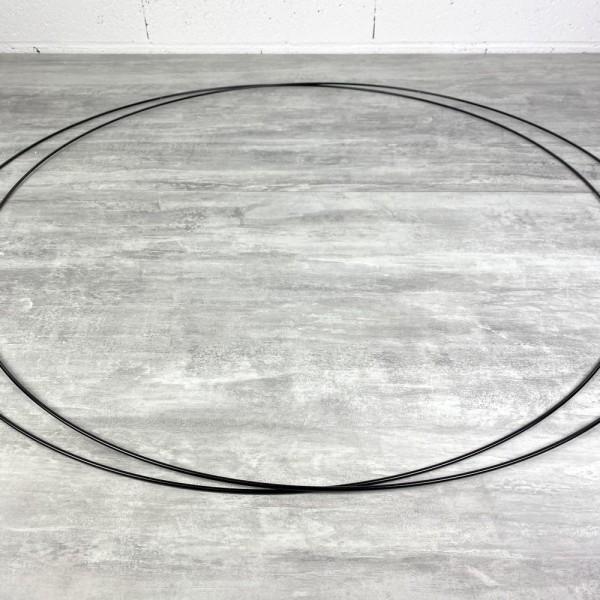 Lot de 2 Grands Cercles métalliques noir, diam. 90 cm pour abat-jour, Anneaux epoxy Attrape rêves - Photo n°3