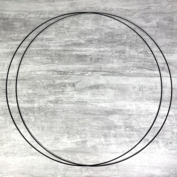 Lot de 2 Grands Cercles métalliques noir, diam. 90 cm pour abat-jour, Anneaux epoxy Attrape rêves - Photo n°1