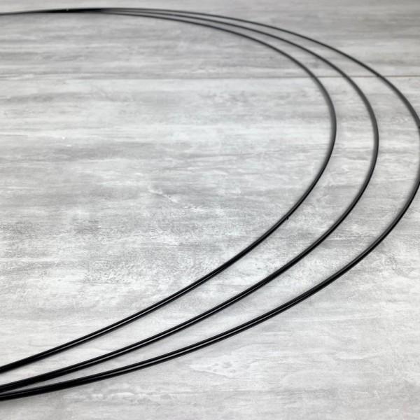 Gros lot de 3 Grands Cercles métalliques noir, diam. 90 cm pour abat-jour, Anneaux epoxy Attrape rêv - Photo n°2