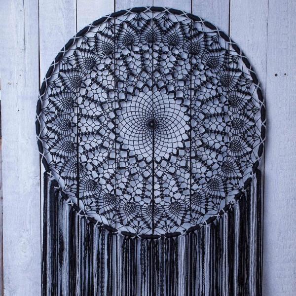 Gros lot de 3 Grands Cercles métalliques noir, diam. 90 cm pour abat-jour, Anneaux epoxy Attrape rêv - Photo n°3