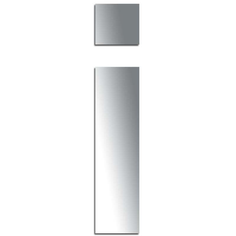 miroir adh sif lettre i minuscule 3 2 cm lettre miroir. Black Bedroom Furniture Sets. Home Design Ideas