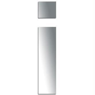 Miroir adhésif lettre I minuscule - 3,2 cm